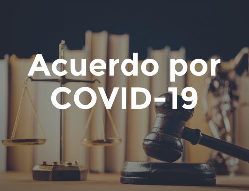 Acuerdo de la Presidencia derivado de la contingencia del COVID-19